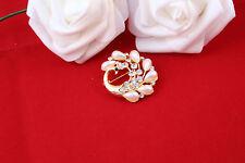 color dorado chapado,Perla Y Diamantes Imitación broche ropa,ramo de  novia ,