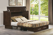 Arason Original Creden-ZzZ Murphy cabinet bed, coffee finish. Opens to Queen