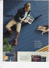 2015 magazine ad BEHR advert print art deck over paint man playing with dog