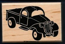 PICK-UP TRUCK Antique Old Style Decorative STAMPIN UP! 1988 Load Up RUBBER STAMP