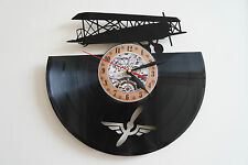 Old Plane vinyl record wall clock bedroom playroom club office shop home art