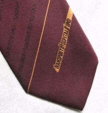 TRANSPORT HOSPITAL FUND TIE VINTAGE 1980s 1990s CORPORATE COMPANY LOGO BURGUNDY