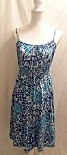 Faded Glory Womans/Teen Dress Sundress Floral Spaghetti Straps Sz 4-6 EUC