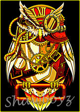 """Steam punk Owl Latch Hook CHART ONLY 21.6"""" x 30"""" Inches (see below)"""