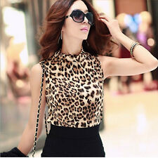 Fashion Leopard Womens Bottoming Shirt Tank Tops  Sleeveless Vest Hottest