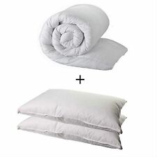 DOUBLE DUVET QUILT AND 2 PILLOWS - DOUBLE 13.5 TOG QUALITY QUILT AND 2 PILLOWS