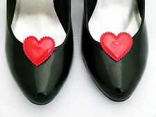 Queen of Hearts Shoe Clips Fancy Dress Shoe Clips Hearts For Shoes Red