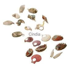 Gilding Gold Natural Sea Shell Conch Beads Pendant Charms for Jewelry Making