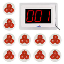 Restaurant Guest Call Paging System Wireless Calling System (1 Host + 10 bells)