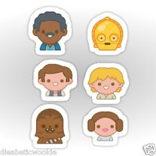 Star Wars New Hope Luke Leia Han Chewbacca C3PO Emoji Sticker decal car laptop