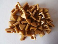 LEGO NEXO KNIGHTS  40 Pyramiden - Fliesen 22388 in gold / pearl gold 1x1x2/3 NEU