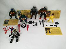 Teenage Mutant Ninja Turtles Lot Original Vintage Bebop Rocksteady Slash TMNT