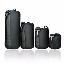 4 pcs DSLR camera Drawstring Soft Neoprene Lens Pouch Bag Cover size