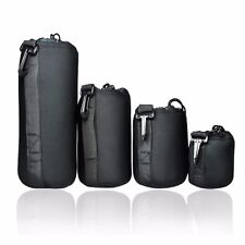Extra Thick 4 pcs DSLR camera Drawstring Soft Neoprene Lens Pouch Bag Cover size