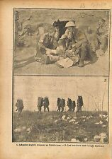 Soldiers British Army Nurse Injured Russia/Boucliers Italy WWI 1917 ILLUSTRATION