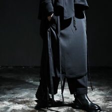 Men's Fashion Grunge String Detail Avant-Garde Layered Skirt Pants, GB2963