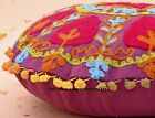 16'' Suzani Embroidered Cushion Cover Pillow Case Indian Ethnic Throw Decor Art