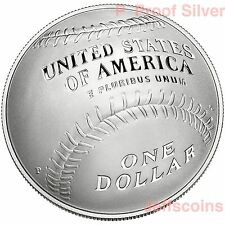 2014 P National Baseball Hall of Fame 90% Silver Proof Dollar USMint Box COA B33