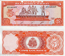 HAITI 5 Gourde Banknote World Money UNC Currency BILL Caribbean Note p255 1989