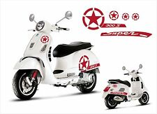Vespa GT GTS 300 Super S Star Decal sticker 5pcs. set V.2 - Red
