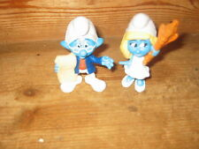 SMURFS SMURFETTE HIGH HEELS NARRATOR BOY MAC DONALDS STANDING 3IN PLAY FIGURES