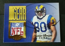 1999 Leaf Certified ISAAC BRUCE 1/1 RAMS NFL SHIELD Jersey Patch non auto
