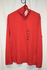 Womens Shirt Size XL By Basic Editions Red NWT Turtleneck Long Sleeve Pull Over