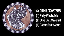 4  x  PANTHER MODEL 100, 600cc ENGINE MOTOR CYCLE MOTORCYCLE - DRINK COASTERS