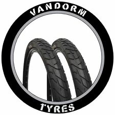 "PAIR of MTB Slick Tires 26"" x 1.95"" Vandorm Wind 195 Mountain Bike Tyres NEW"