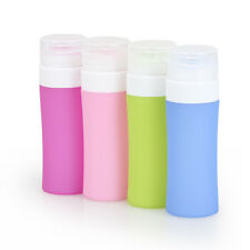 3Pcs/set S/M/L Silicone Travel Portable Refillable Bottles Traveling Container
