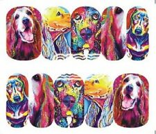 Nail Art Decals Transfers Stickers Dog Lovers Delight (DA1285)