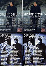 SHAKIN' STEVENS FLYERS x 4 - ECHOES OF OUR TIME 2017 TOUR & 30TH ANNIVERSARY