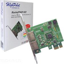 HighPoint SATA RocketRAID622 SATA 6Gb/s Adapter CIE2.0x1 RAID 5 Capable Retail