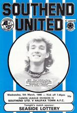Southend United V Halifax Town ,  1986   Football League Division 4  Programme