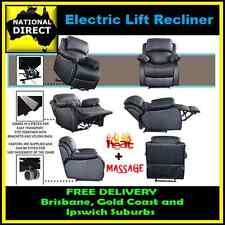 Electric Lift Recliner Chair with HEAT and MASSAGE Function  FREE LOCAL DELIVERY