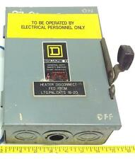SQUARE D 30A 120/240VAC SAFETY SWITCH SER.E1 D211N