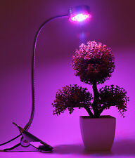 15W LED Grow Light Indoor Garden Hydroponic Plant Desk Flexible Clip Clamp Lamp