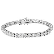 "9 1/2ct Genuine Diamond Tennis Bracelet 7"" 18K White Gold"