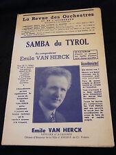 Partition Samba du Tyrol Emile Van Herck  Music Sheet