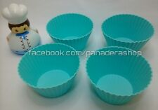 4pcs Big Cupcake Muffin Silicone Bento Tools Cups Baking Pan Bakeware Jelly Mold