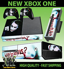 XBOX ONE CONSOLA PEGATINA JOKER WHY SO SERIOUS VILLANO DE BATMAN PIEL & 2 PAD