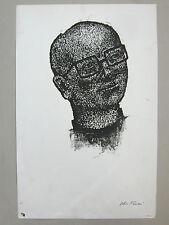 TAMARI Olive Eau forte Pierre CAMINADE Portrait noir Montpellier Provence Toulon