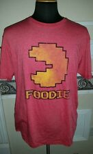 "Officially Licensed PacMan ""Foodie"" Red Graphic T-Shirt Adult Large (44"" Chest)"