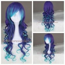 Sexy Costume Lady Purple Mixed LOLITA Wigs Curly Wavy Long Hair Cosplay Wig wigs