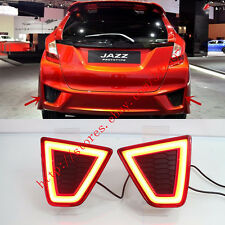 2x LED Rear Bumper decoration lamp led brake lights For Honda Fit/Jazz 2014-2016