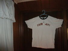 Timberland t-shirt short sleeve white with distressed name size small brand NEW