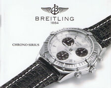 BREITLING CHRONO SIRIUS ANLEITUNG INSTRUCTIONS I437