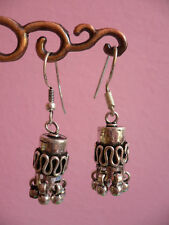 boucles d'oreilles indiennes ethnique Inde silver earrings India Rajasthan