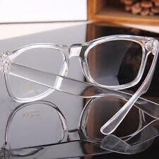 Fashion Damen Herren Retro Klarglas Brille Rund-Rahmen Gläser Nerd Brille