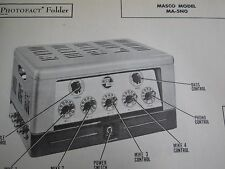 MASCO MA-50N AMP AMPLIFIER PHOTOFACT
